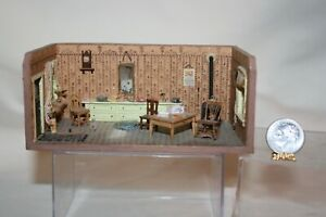 Miniature Dollhouse Roombox Circa 1966 Jeanette Wright Miss Brown Milliner Shop