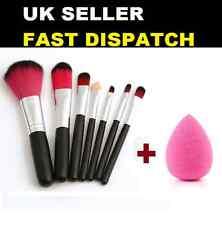 7pcs Mini Makeup eyeshadow Cosmetics brush Sets + Beauty blending Sponge blender
