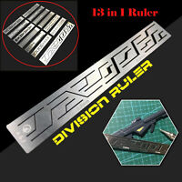 13 In 1 Carving Auxiliary Ruler Steel Hole Engraved Tool for Gundam Model Craft