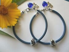 2- COLON CANCER  AWARENESS  BRACELETS WITH RIBBON/HOPE CHARMS/HEART