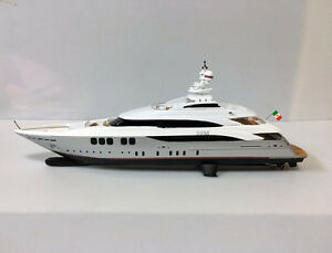 Handcrafted Yacht Boat Model Silver 1/160 Scale Resin