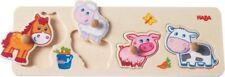 HABA Greifpuzzle PUZZLE Holz Bauernhof Pferd Schaf Schwein Kuh ab 1 Jahr