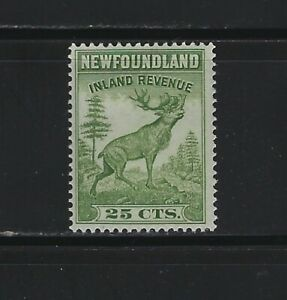 NEWFOUNDLAND - #NFR48 - 25c CARIBOU INLAND REVENUE MINT STAMP MNH