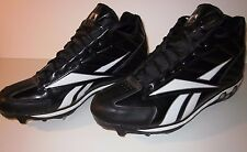 REEBOK J01429 HIGH N TIGHT II Men's Baseball Cleat Shoe (Sz 13.5 M) Black