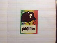 PHILLIES.  Fleer Baseball logo AND CAP sticker.