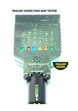 LED Vehicle Socket Light Tester Test 7 Pin Flat & 7 Pin small Round Sockets