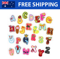 Kids Alphabet Letter A-Z Embroidered Patches - Embroidery Font Patch Iron Sew