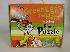 Dr Seuss Jigsaw Floor Puzzle Large 'Green Eggs and Ham' 48pc in Box Gift c04