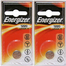 2 X Energizer 1220 Cr1220 3v Lithium Coin Cell Battery