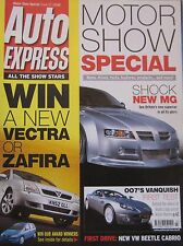 Auto Express 2002 Motor Show Special featuring Invicta, Mini, Ford, Toyota, Seat