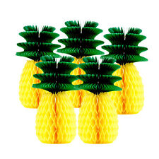 20cm Pineapple Paper Lantern Honeycomb Ball Birthday Luau Hawaiian Decor Crafts
