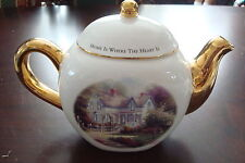 "Thomas Kinkade teapot ""Home is where the Heart is"", signed IN  PLATE [*12]"
