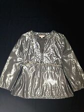 RRP $499 LISA HO METALLIC EVENING BLOUSE TOP W/  BELT 16