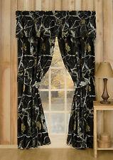REALTREE AP BLACK CAMOUFLAGE WINDOW CURTAINS - CAMO DRAPES