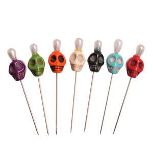7pcs Skull Head Pattern Pins Evil Voodoo Curse Needles Voodoo Doll Accessory
