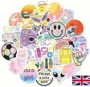UK NEW VSCO Stickers For Hydro Flask 50pcs Cartoon Phone Laptop Car Cute Sticker
