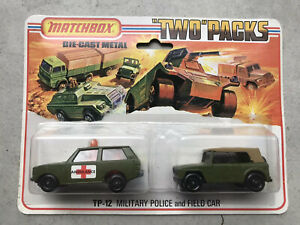 Matchbox  TP-12 A4 'Two' Pack Military Police & Field Car MOC