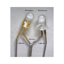 8ea Matched Pair Infrared Led Photo Emitter Amp Ir Photo Detector Receiver Nos