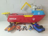 Paw Patrol Sea Patroller Boat Playset Lights & Sounds with ryder chase zoomer