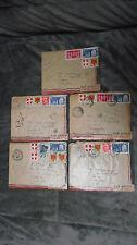 1950 France various stamps cancels 5 letters cover envelopes