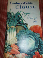 CATALOGUE GRAINES CLAUSE JARDIN - AGRICOLE - PLANTES - 1948  ( ref 35 )