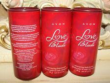 3 Avon LOVE BLUSH Shimmering Body Powder NEW
