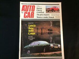 Autocar Magazine February 1975 Swedish Rally, Lancia, Escort Mexico, Datsun etc