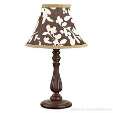 Cocalo Dark Cherry Wood Look Base & Brown Floral Shade New In Box