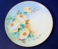 """Vintage Thomas Sevres Bavaria Hand Painted Plate*Yellow Roses* - 7 1/2"""""""