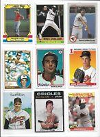 Orioles All-Time Greatest Lot of (55) Different Ripken Robinson Belanger Palmer