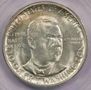1946 Booker T. Washington BTW Classic Silver Commemorative Half Dollar ICG MS66