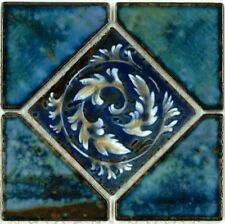 Fujiwa Porcelain glazed Swimming Pool Waterline Tile STAK-331 OYSTER BLUE 6 x 6