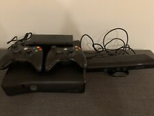 Xbox 360 Bundle With Kinect And Two Controllers Working Clean