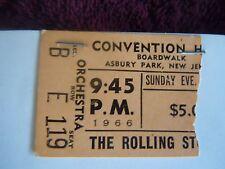 Rolling Stones Brian Jones Ticket Stub and Tour Program 1966 Asbury Park RARE!!!