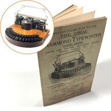 HAMMOND No.1 TYPEWRITER INSTRUCTION MANUAL Antique Reproduction Schreibmaschine