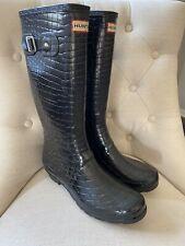 Hunters Woman's Rain Boots Black Sz 10 11 ~ NICE ~
