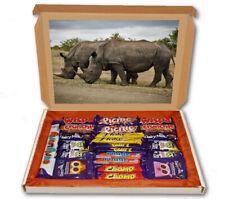 Rhinos Zoo Wild Animal 24 Bar Cadbury Chocolate Hamper Personalised Gift Box