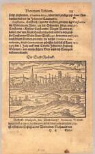 Rostock - Holzschnitt von Saur 1595