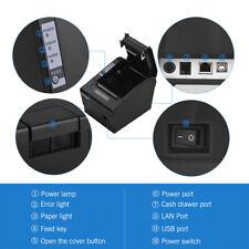 HOIN 80mm Thermal Receipt Printer with Auto Cutter ESC/ POS Print USB+LAN