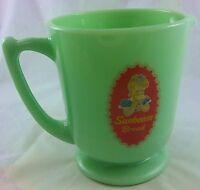 JADITE GREEN GLASS SUNBEAM BREAD GIRL LOGO 4 CUP CAPACITY MEASURING CUP PITCHER