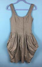 All Saints Beaujolais Khaki Green Cotton Parachute Mini Dress Size 6 - B35