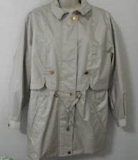 FLEET STREET Tan Ladies Zip Button Trench Coat Size M EUC