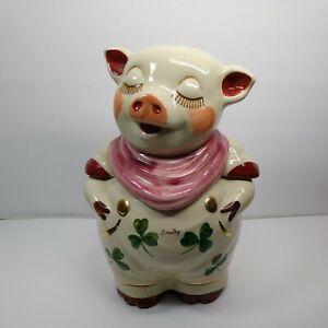 Shawnee Smiley Pig Shamrock Cookie Jar St. Patrick