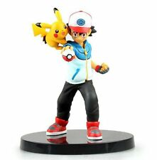POKEMON  Ash Figure + Pikachu + stand NEW 6""