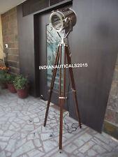 NAUTICAL DESIGNER STUDIO FLOOR LAMP TRIPOD SEARCHLIGHT HOME DECOR SPOT LIGHT