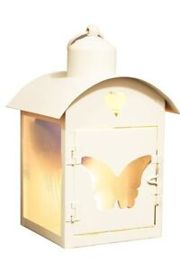 Vintage Style Butterfly Cut Out Metal Lantern Tea Light Candle Holder