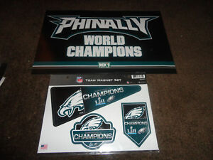 PHILADELPHIA EAGLES~Poster Sign Phinally Super Bowl World Champions & MAGNETS