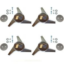 4 Hurst Wheel Spinner Center Cap Recessed Style Set of 4