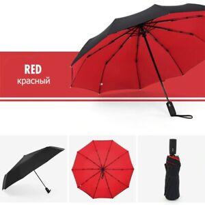 Large Umbrella Automatic Open Close 3 Folding Fiber Ten Bone Car Luxury Large
