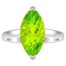 Peridot 925 Sterling Silver Ring s.8 Jewelry 6266